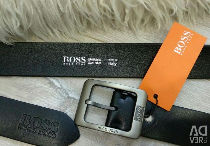 Men's leather belt Boss
