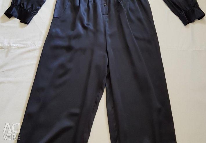 Victoria Secret overalls silk natural new