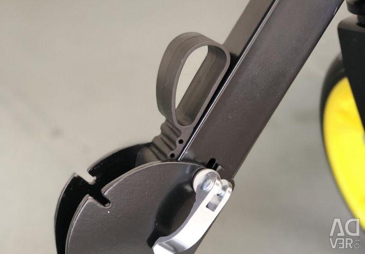 Metal scooter.