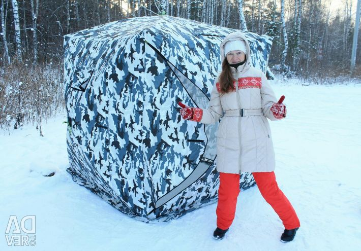 Winter tent warmed Cube 2 camouflage Delivery