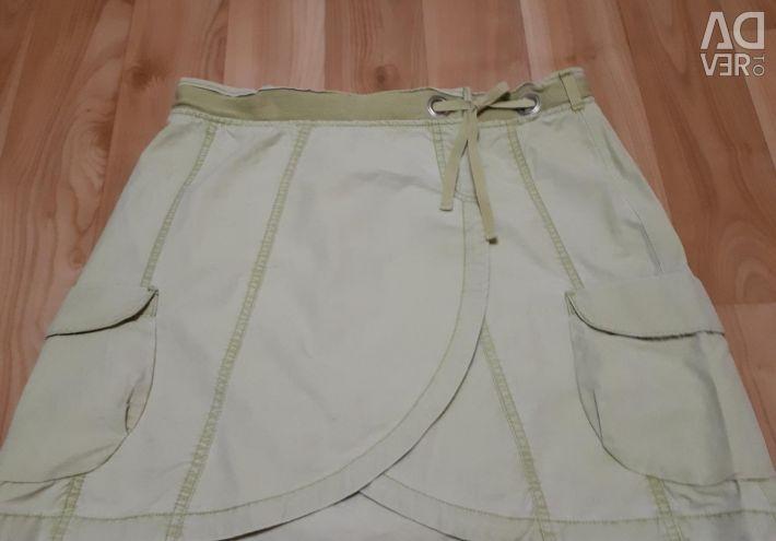 Джинсовая хлопковая юбочка.