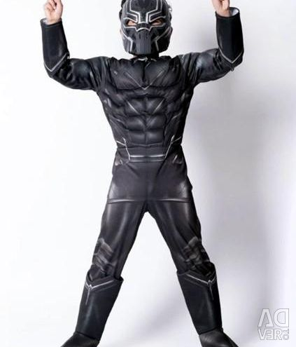 Carnival costume Black Panther with muscles