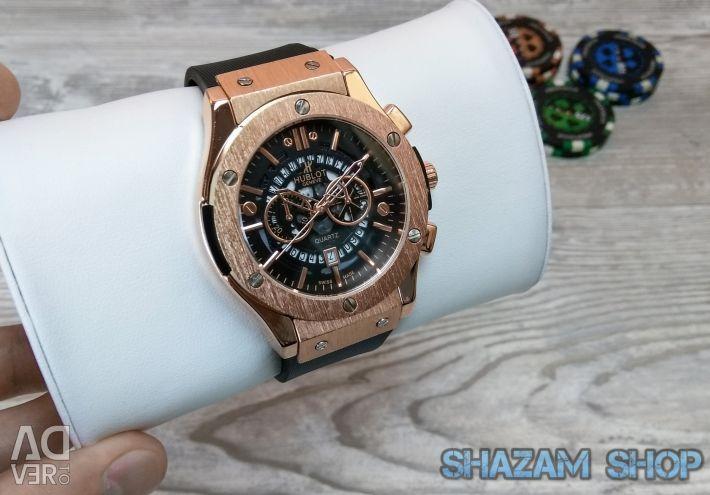 Χρυσό ρολόι χαλαζία Chrono
