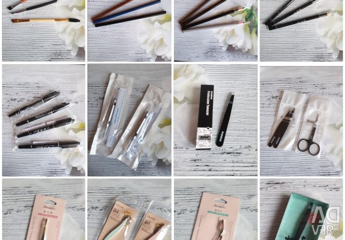 Materials for microblading and tattoo eyebrows.