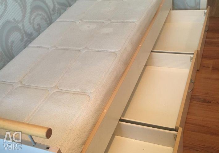 Ліжко isku + матрац wellpur