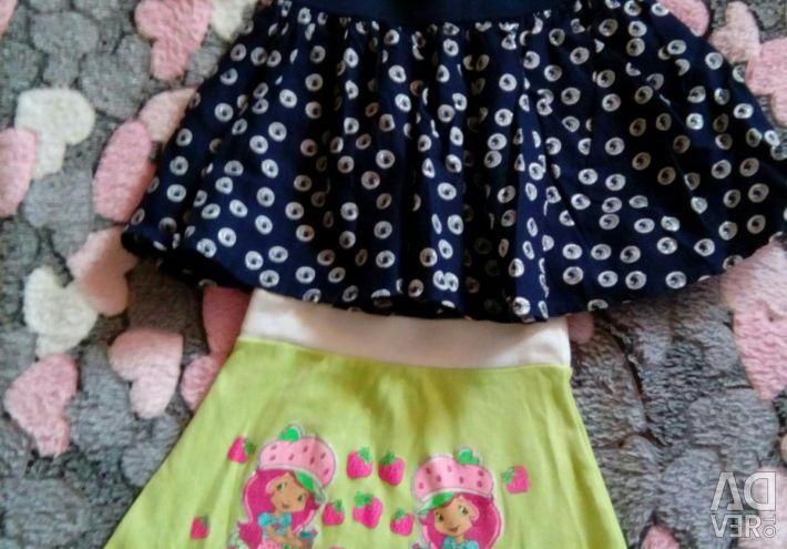 Φούστες για κορίτσια για 3-4 χρόνια.