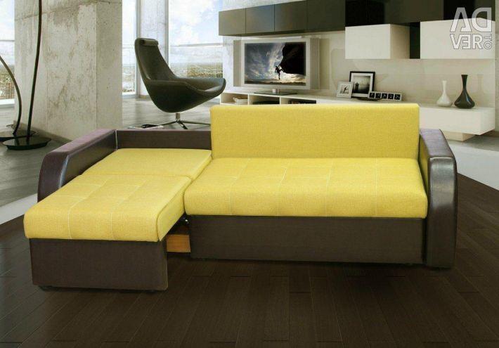 Диван прямий жовтий: КОРСІКА: будь-які кольори