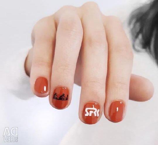 Manicure, gel polish, models