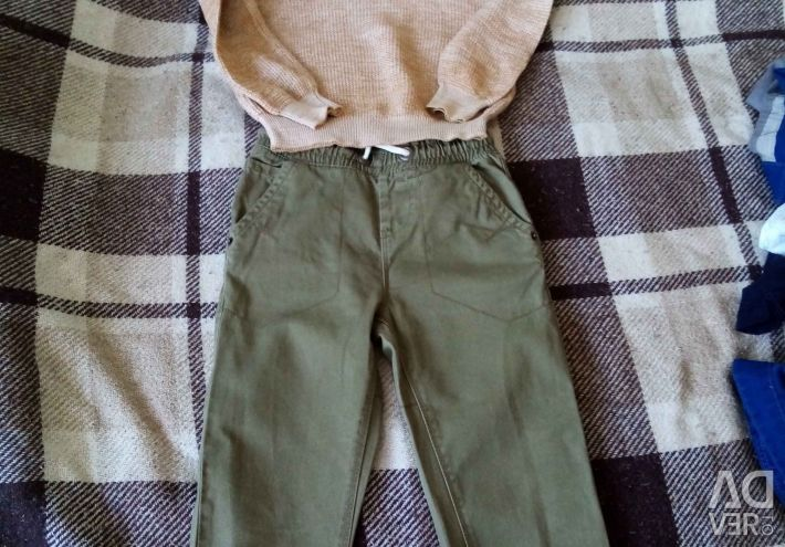 Suit summer (trousers, sweatshirt)