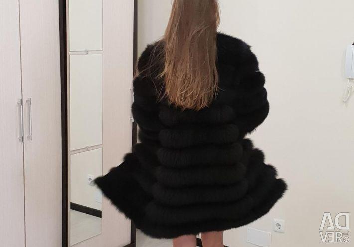 Fur coat natural fox of 90 cm (a transformer 4 in 1)
