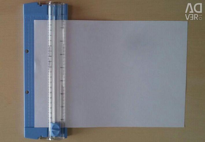 Dispozitiv nou pentru tăierea hârtiei.