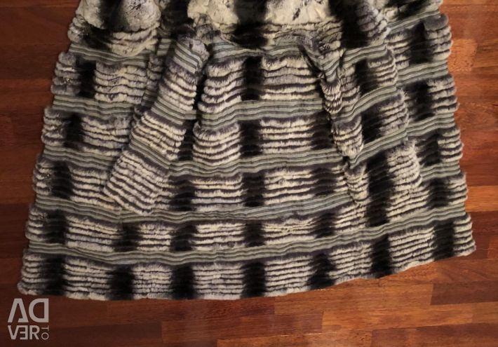 Пальто шиншила орілага, підклад шерсть кашемір