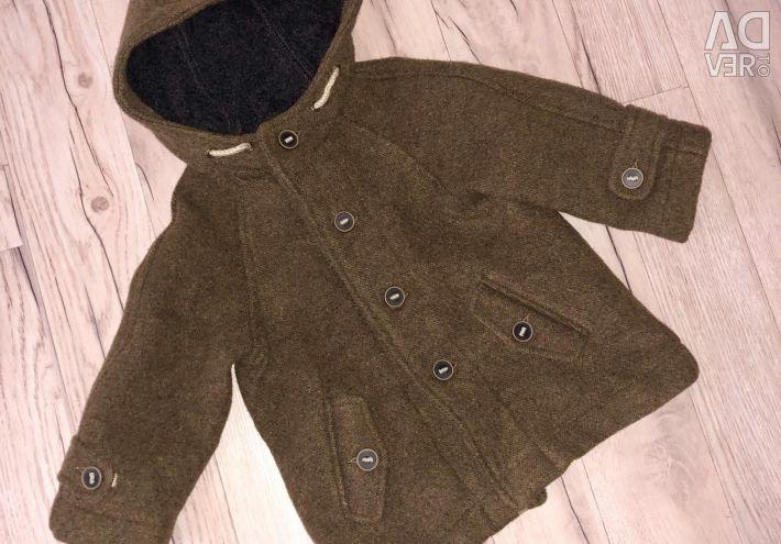 Coat Zara pentru copii mici 12-18 luni noi