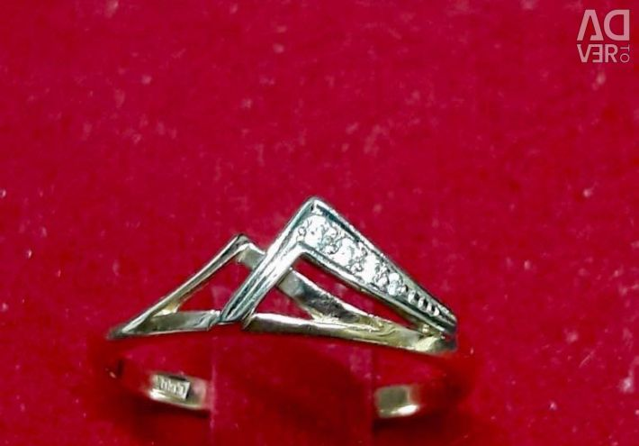 Inel de aur cu zirconii cubice