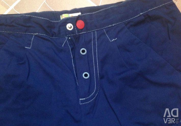 Pantaloni pe o căptușeală tricotată