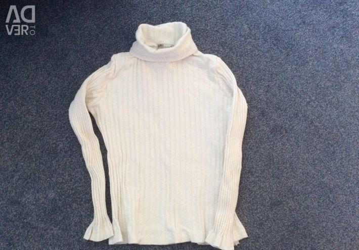 Polo-gât alb Zara Girls 10 - 11