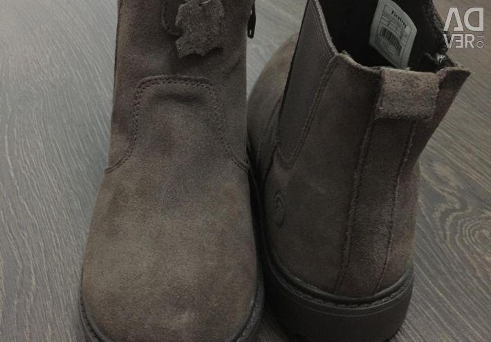Pantofi noi din piele de piele de 22 cm, Ecko pentru diapozitive.