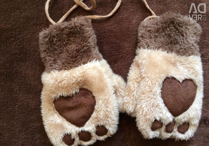Mittens for children. New ones.