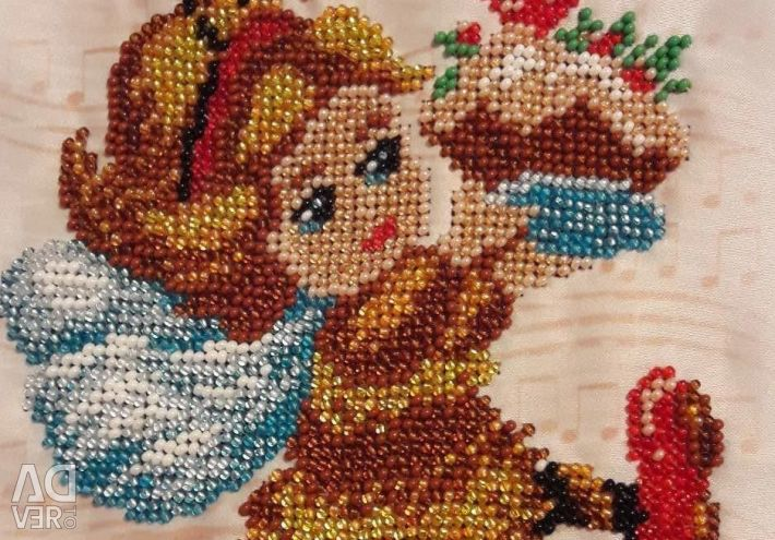 Set for embroidery with beads