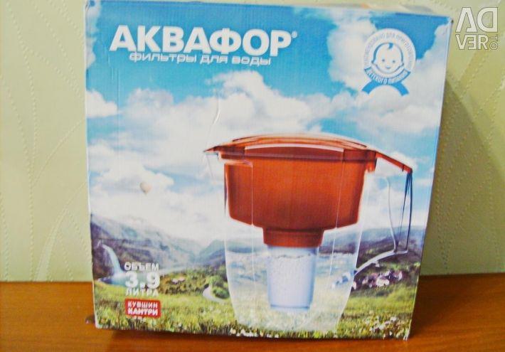 Filter - jug for water. Barrier.