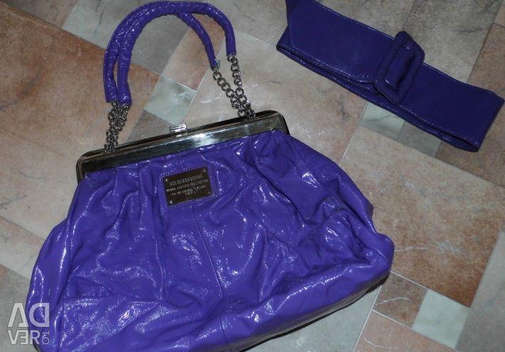 Stylish handbag + belt Bag Dolce Gabbana (Dolch