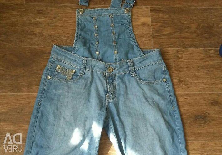 Denim women's overalls