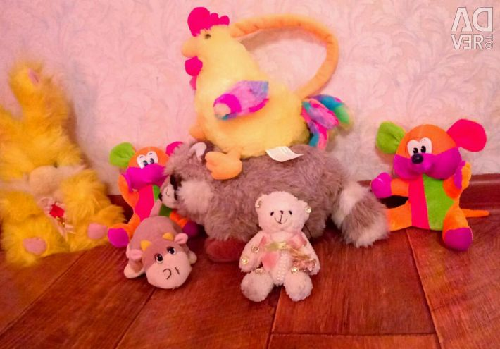 Soft toys, backpack for children