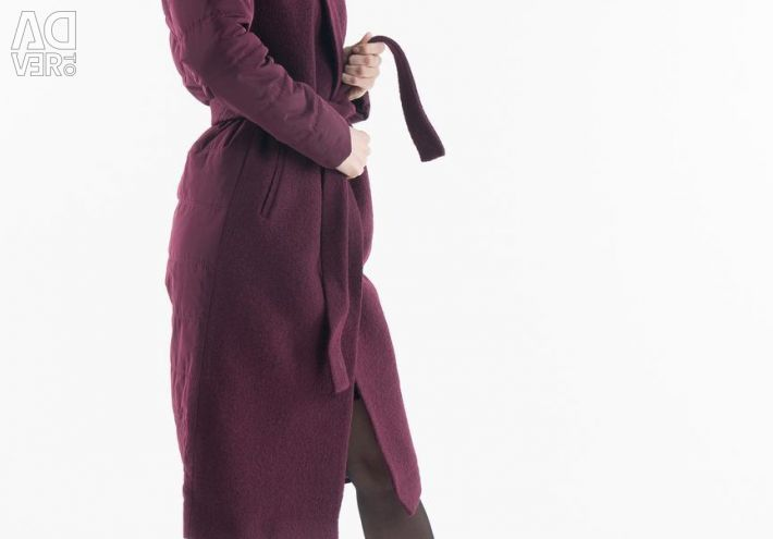 Electrastyle Wool Coat of two types of fabric