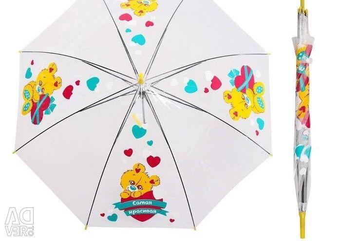 Umbrele pentru copii transparente