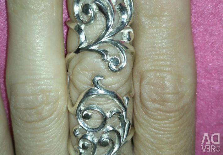 Δαχτυλίδι Yakut ασήμι 925