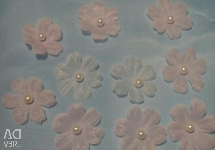 Цветы из шифона