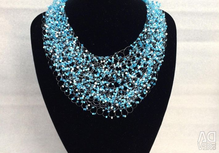Baby Blue Beaded Necklace