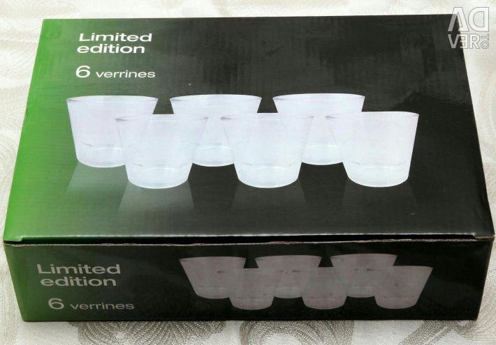 Επιτραπέζια σκεύη νέα σειρά γυαλιών κρασιού σε συσκευασία 6 τεμαχίων