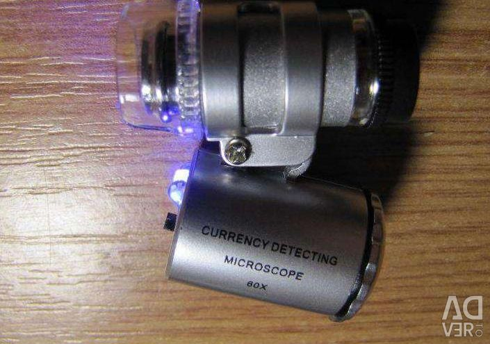 Микроскоп с подсветкой с увеличением 60х