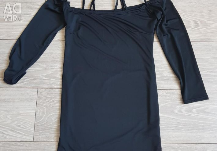 The dress is female. On one dress the back is open.