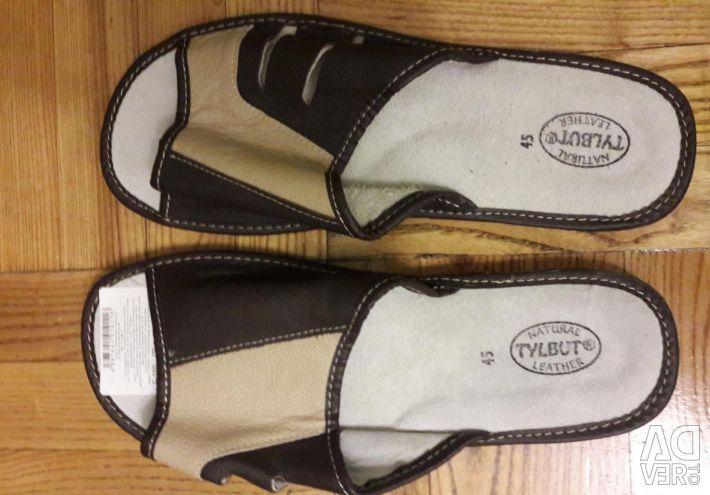 Spor ayakkabı ev deri 45-rr. yeni