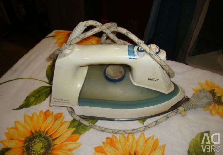 USSR ironing board with iron iron