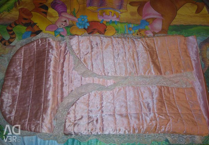 Envelope for a newborn girl satin pink