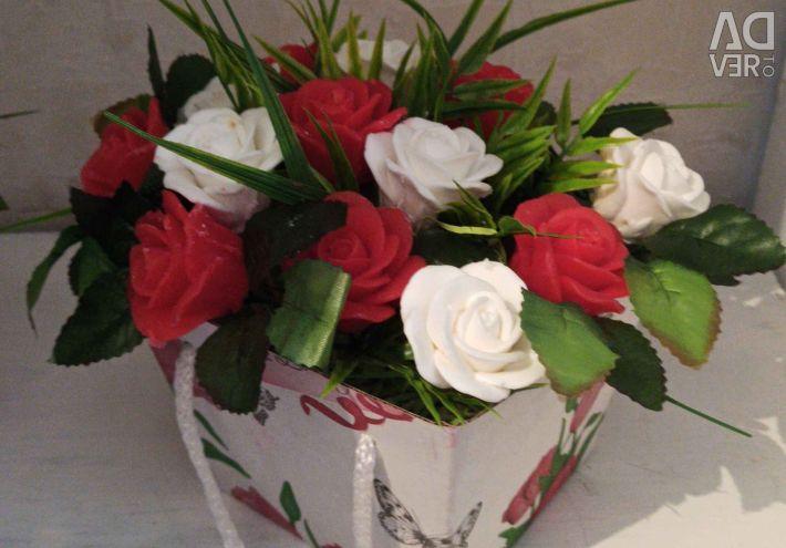Handmade soap bouquets