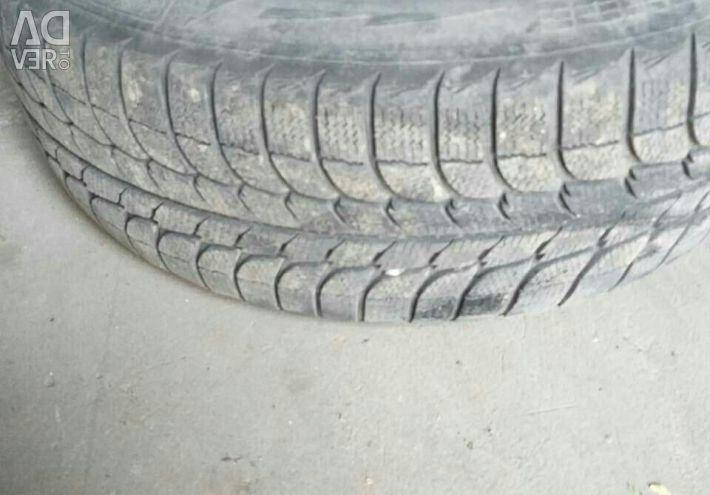 Winter tires on wheels