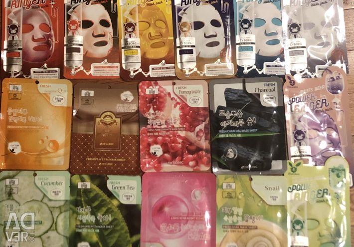 Korean fabric face masks