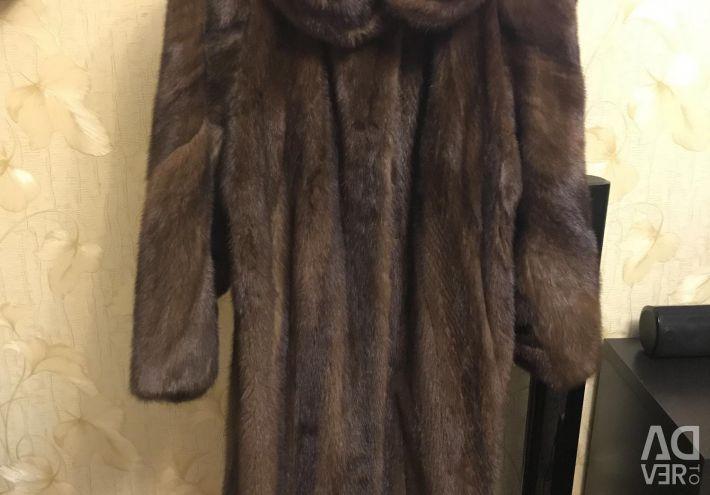 Mink παλτό, στερεό