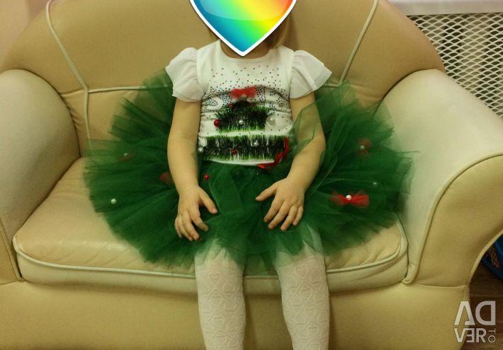 Costume herringbone, skirt and rim