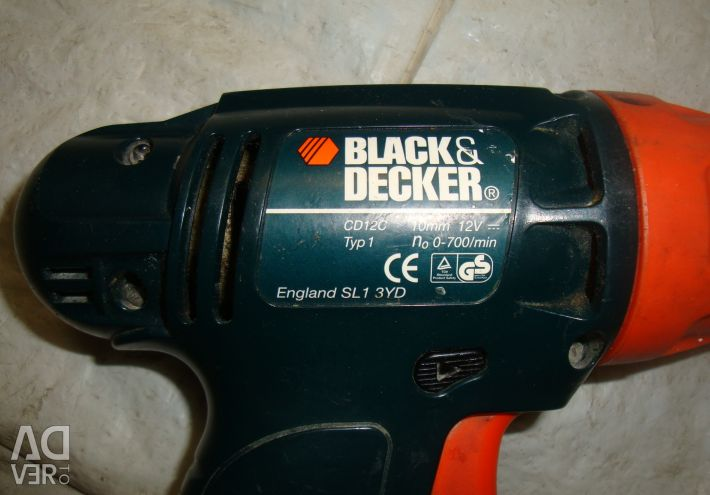 Μαύρο κατσαβίδι SL1 3YD χωρίς φόρτιση