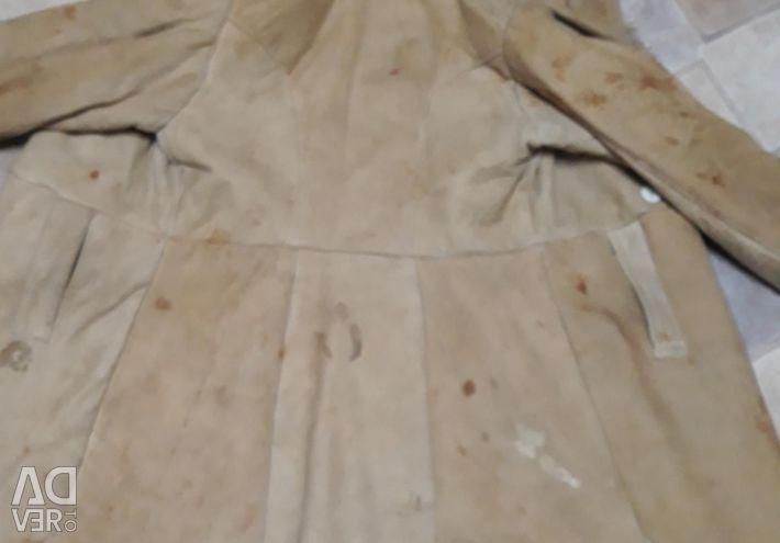 Sheepskin coat on sheepskin