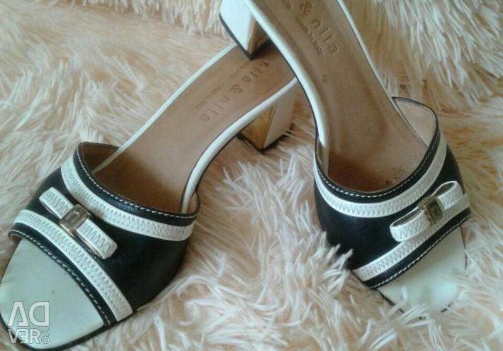 Sandals nat δέρμα