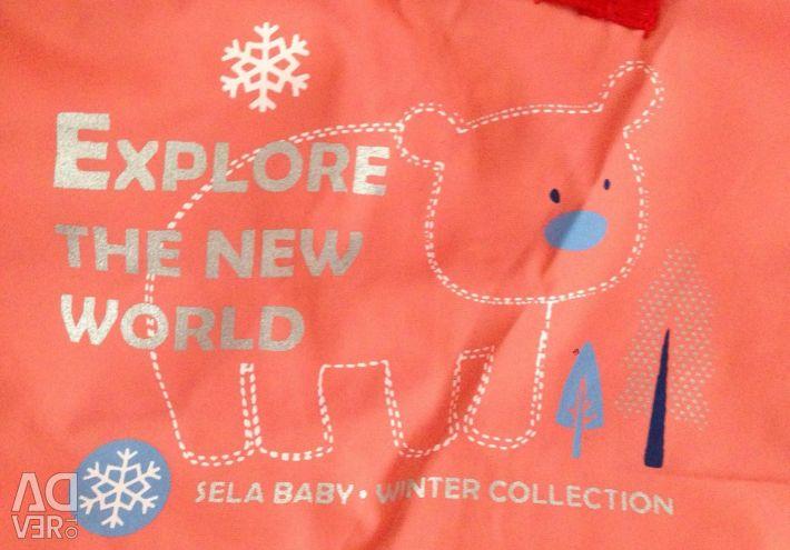 SELA κάτω μπουφάν για ένα κορίτσι 1,5 - 2 ετών, καινούριο