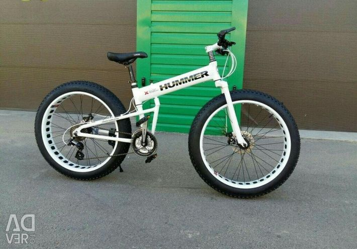 White Fatbike Hummer with free shipping to Russia