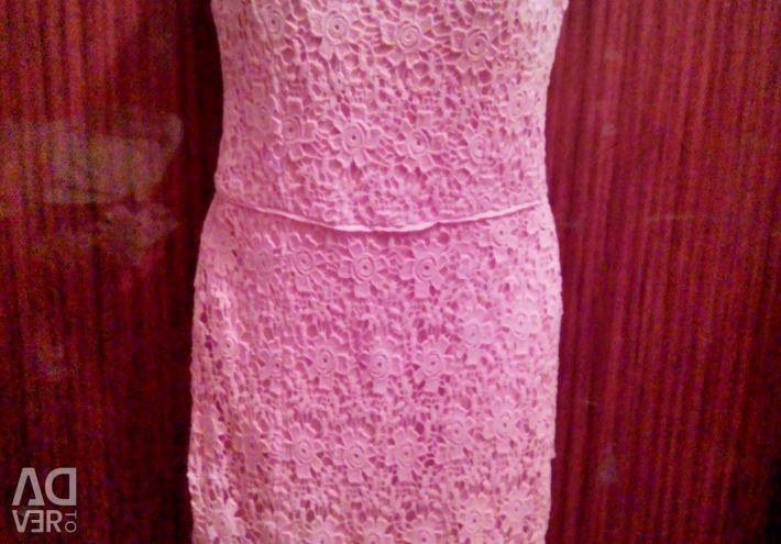 Rochie eleganta roz Guipure INCITY