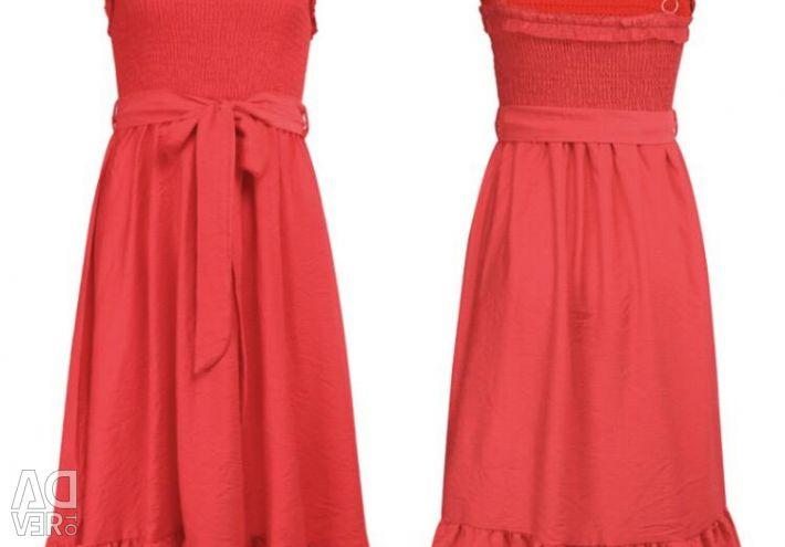 New red summer sundress